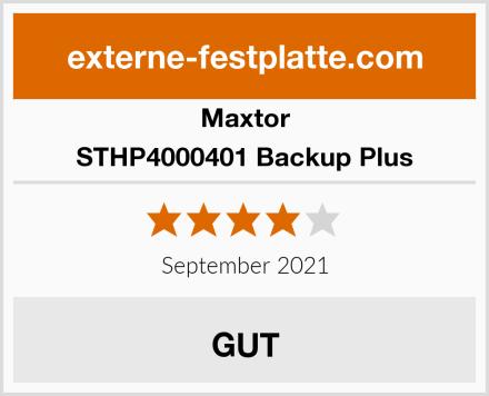 Maxtor STHP4000401 Backup Plus Test