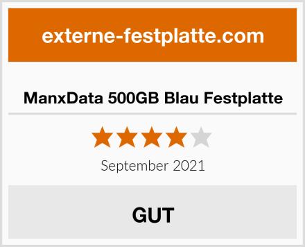 ManxData 500GB Blau Festplatte Test