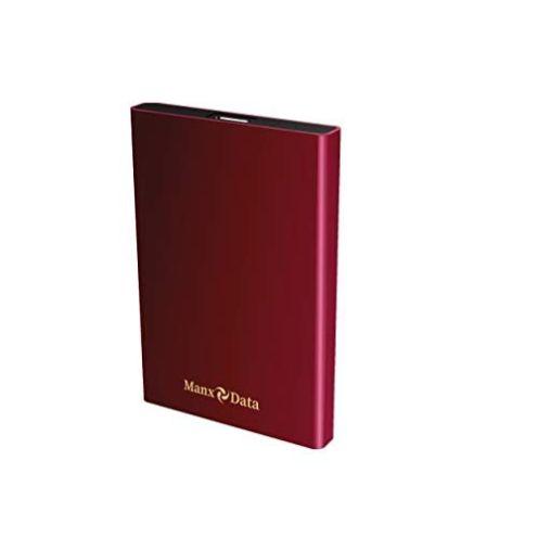 ManxData 500GB Rot Externe Festplatte