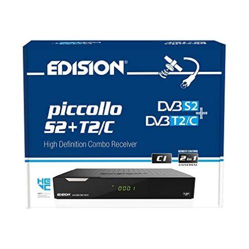 Edision Piccollo S2 + T2-C Combo Receiver
